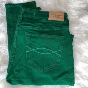 Abercrombie and Fitch Jeans Green Size 27